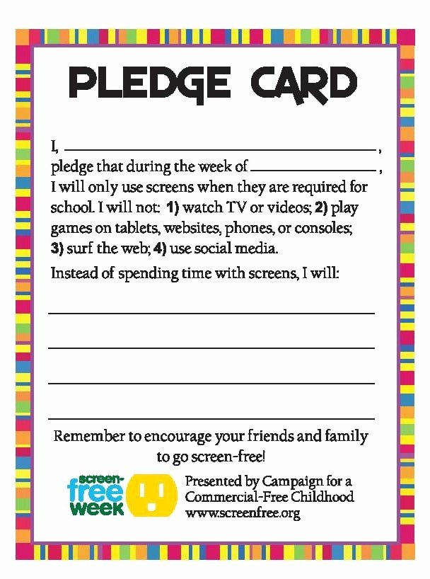"Pledge Card Template Word Inspirational How to Host A ""wellness Week"" at School Real Mom Nutrition"