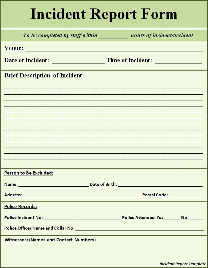 Police Report Template Microsoft Word Luxury Free Printable Police Report Template form Generic