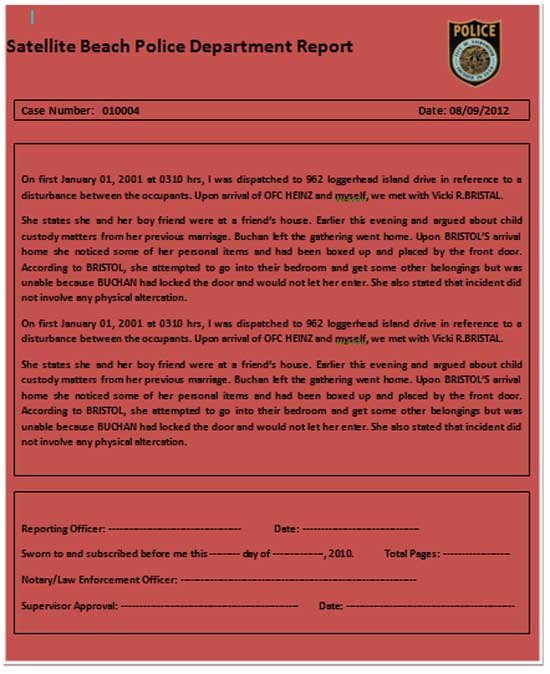 Police Report Template Microsoft Word Unique Microsoft Word Templates Police Report Template