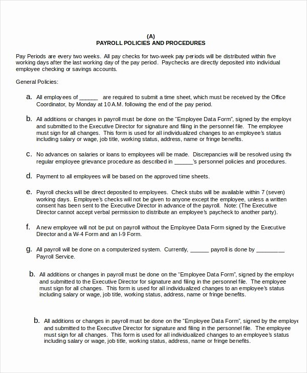 Policy and Procedure Template Examples Awesome Procedure Template 8 Free Word Documents Download