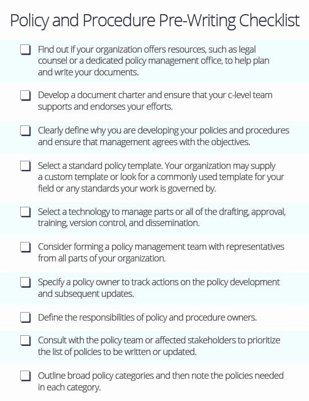 Policy and Procedure Template Examples Best Of How to Write Policies and Procedures