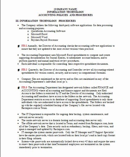 Policy and Procedure Template Examples Best Of Policies and Procedures Template