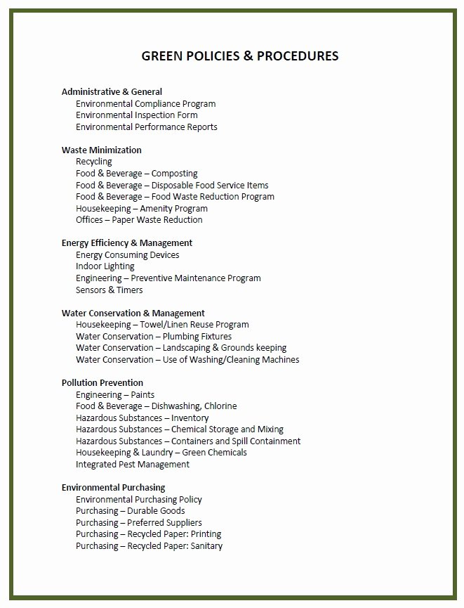 Policy and Procedure Template Examples Best Of Policy and Procedure Template
