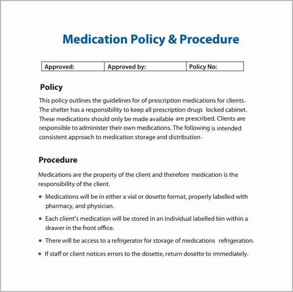 Policy and Procedure Template Free Elegant Policies and Procedures Template