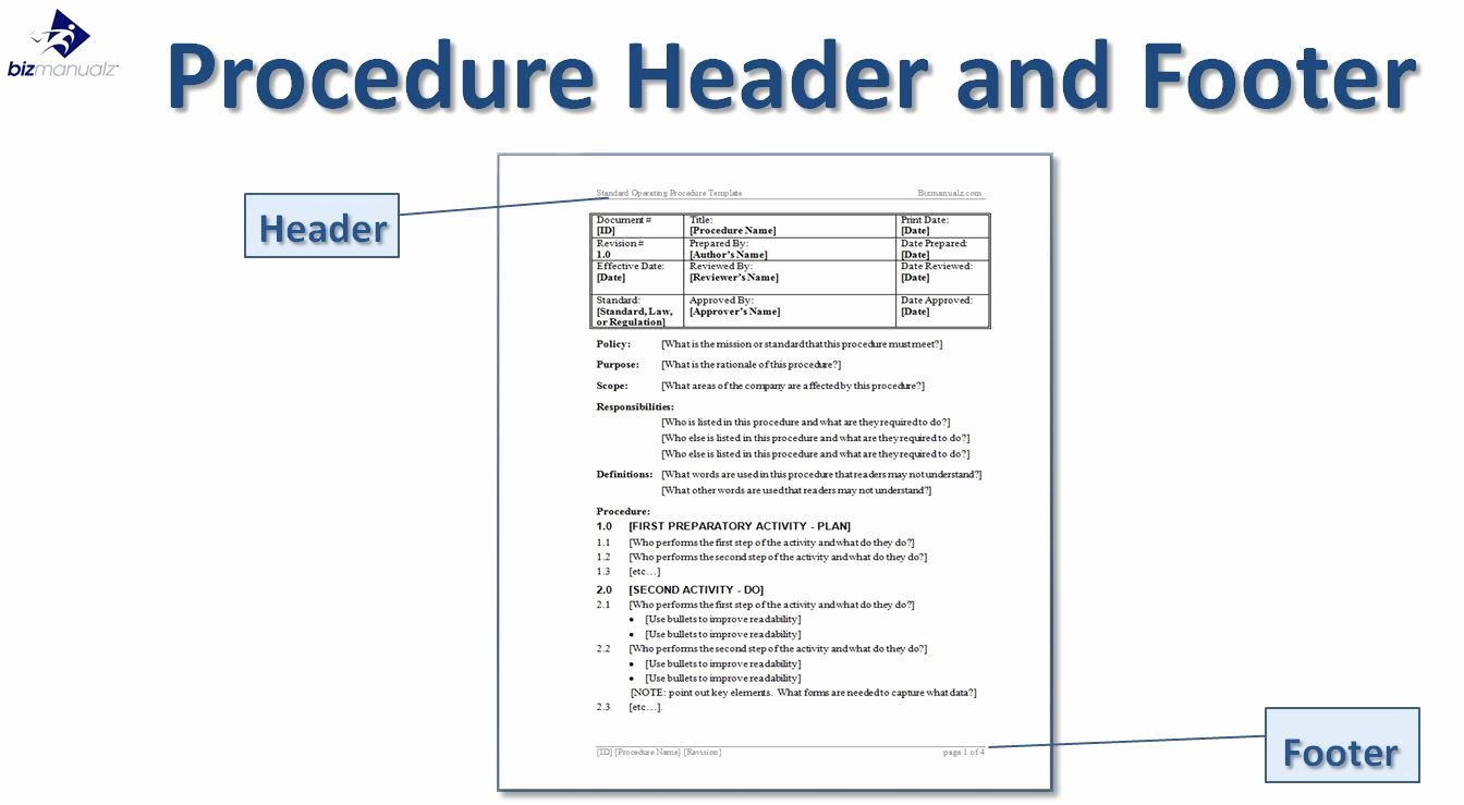Policy and Procedure Templates Lovely Writing Standard Operating Procedures Writing sop