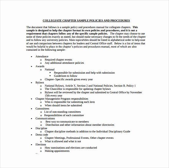 Policy and Procedures Template Best Of Free 13 Policy and Procedure Templates In Pdf