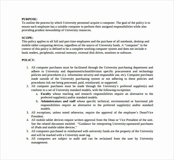 Policy and Procedures Template New Policies and Procedures Template