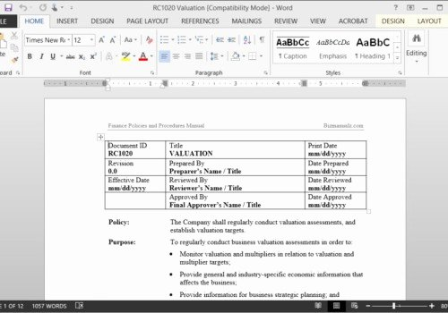 Policy and Procedures Template Unique why Buy Word Policies and Procedures Templates