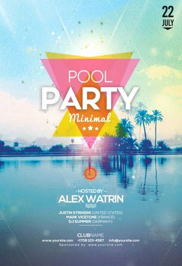 Pool Party Flyer Template Awesome Download Easy to Use Free Summer Flyer Templates for Shop