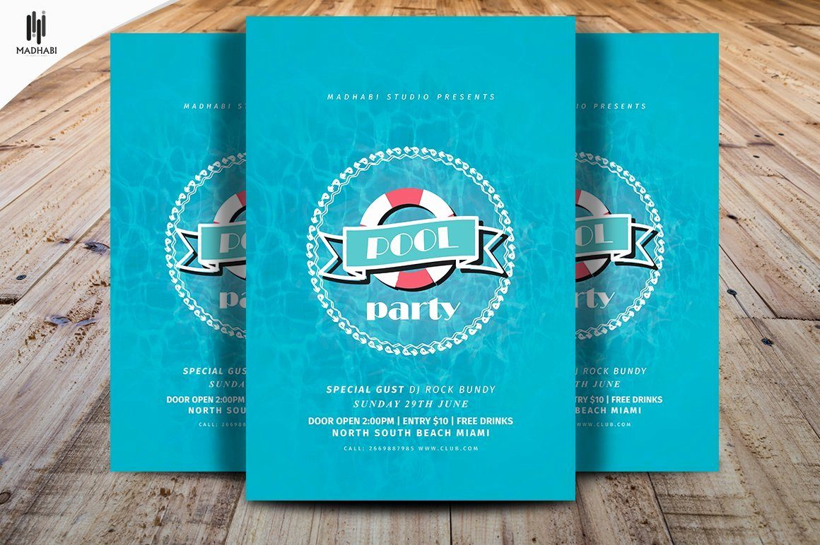 Pool Party Flyer Template Awesome Minimal Pool Party Flyer Template Flyer Templates