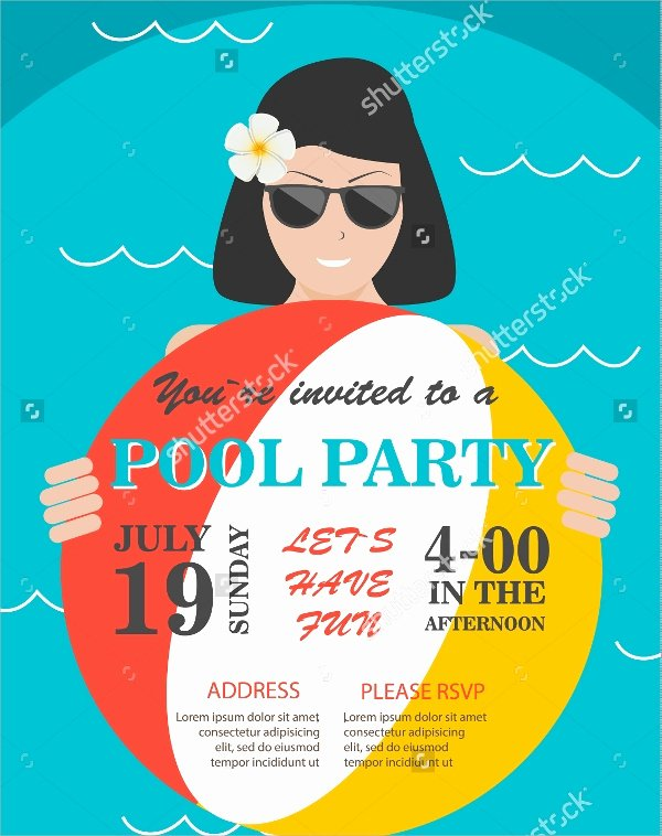 Pool Party Flyer Template Beautiful 18 Pool Party Flyer Templates Psd Free Eps format