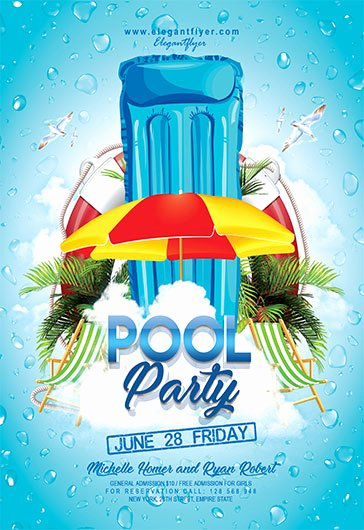 Pool Party Flyer Template Beautiful Pool Party V04 – Flyer Psd Template – by Elegantflyer