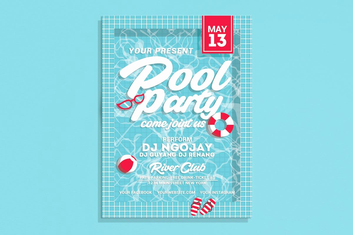Pool Party Flyer Template Best Of Pool Party Flyer by Muhamadiqbalhidayat On Envato Elements