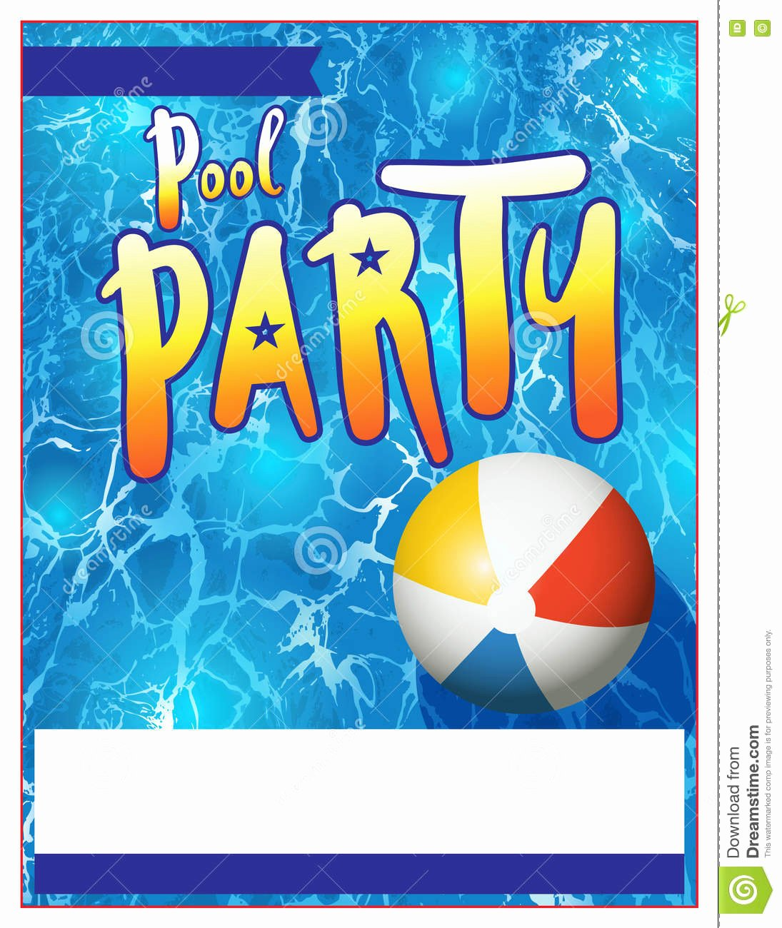 Pool Party Flyer Template Best Of Pool Party Flyer Invitation Illustration Stock Vector