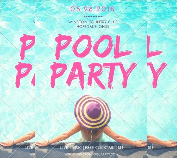 Pool Party Flyer Template Free Beautiful 18 Pool Party Flyer Templates Psd Free Eps format