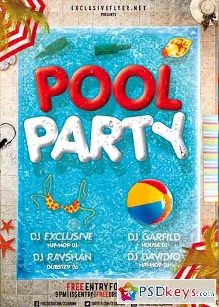 Pool Party Flyer Template Free Best Of Pool Party V12 Premium Flyer Template Cover
