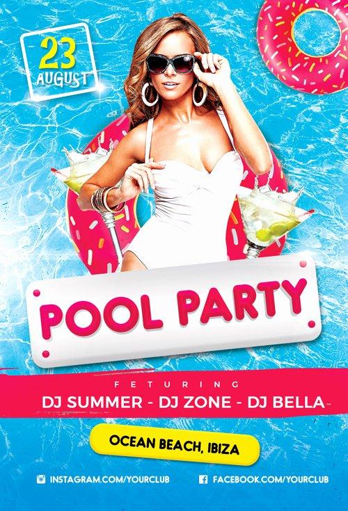 Pool Party Flyer Template Free Elegant Pool Party Vol 2 Flyer Template Flyer for Summer and