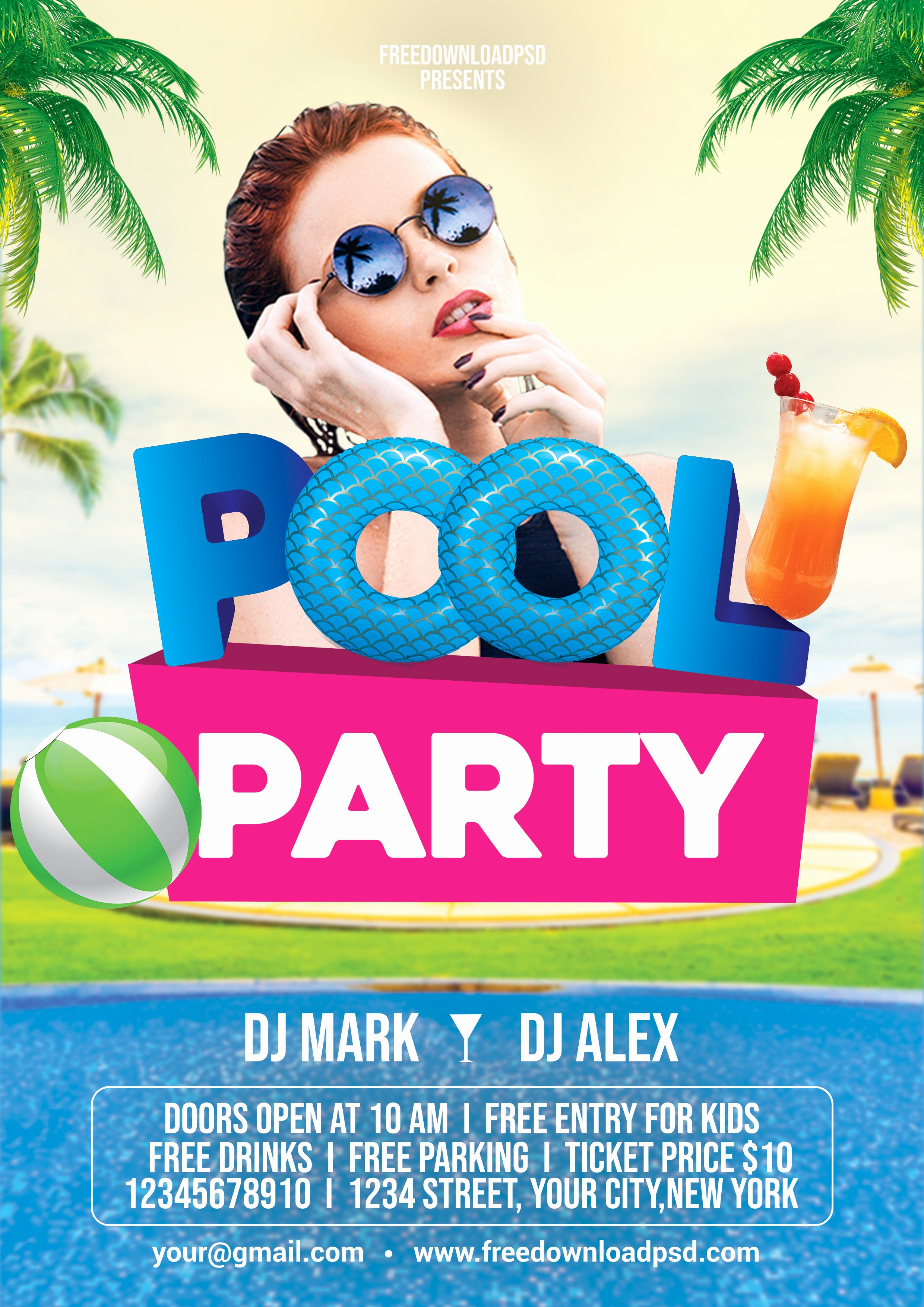 Pool Party Flyer Template Free Inspirational Pool Party Flyer Psd