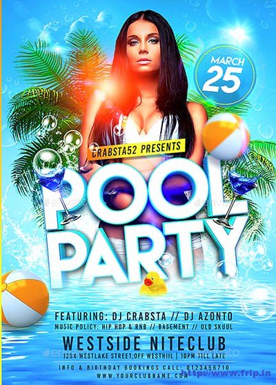 Pool Party Flyer Template Free Lovely 50 Best Summer Pool Party Flyer Print Templates 2019