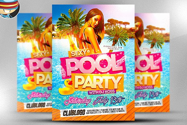 Pool Party Flyer Template Free Lovely Pool Party Flyer Template On Behance