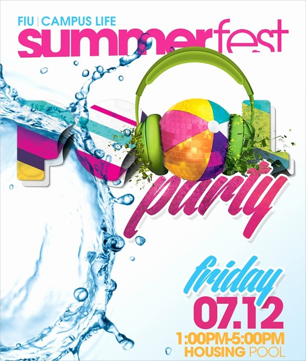 Pool Party Flyer Template Free Luxury 18 Pool Party Flyer Templates Psd Free Eps format