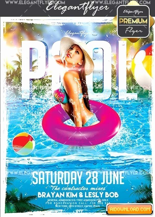 Pool Party Flyer Template Free New Pool Party V13 Flyer Psd Template Cover Free