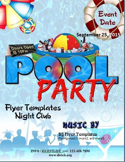 Pool Party Flyer Template Fresh Ms Word Pool Party Flyer Template