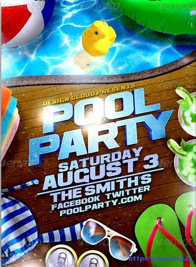 Pool Party Flyer Template Inspirational 50 Best Summer Pool Party Flyer Print Templates 2019