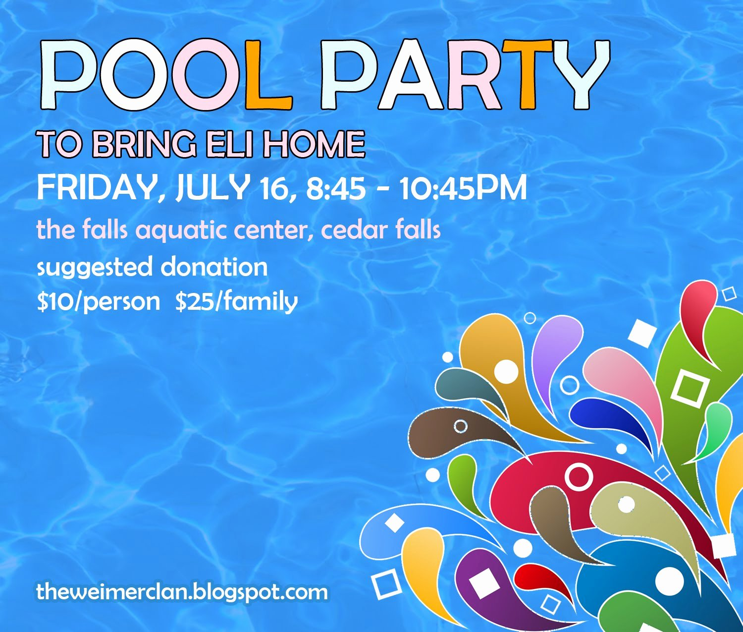 Pool Party Flyer Template Inspirational Bring Home Eli Save the Date Pool Party