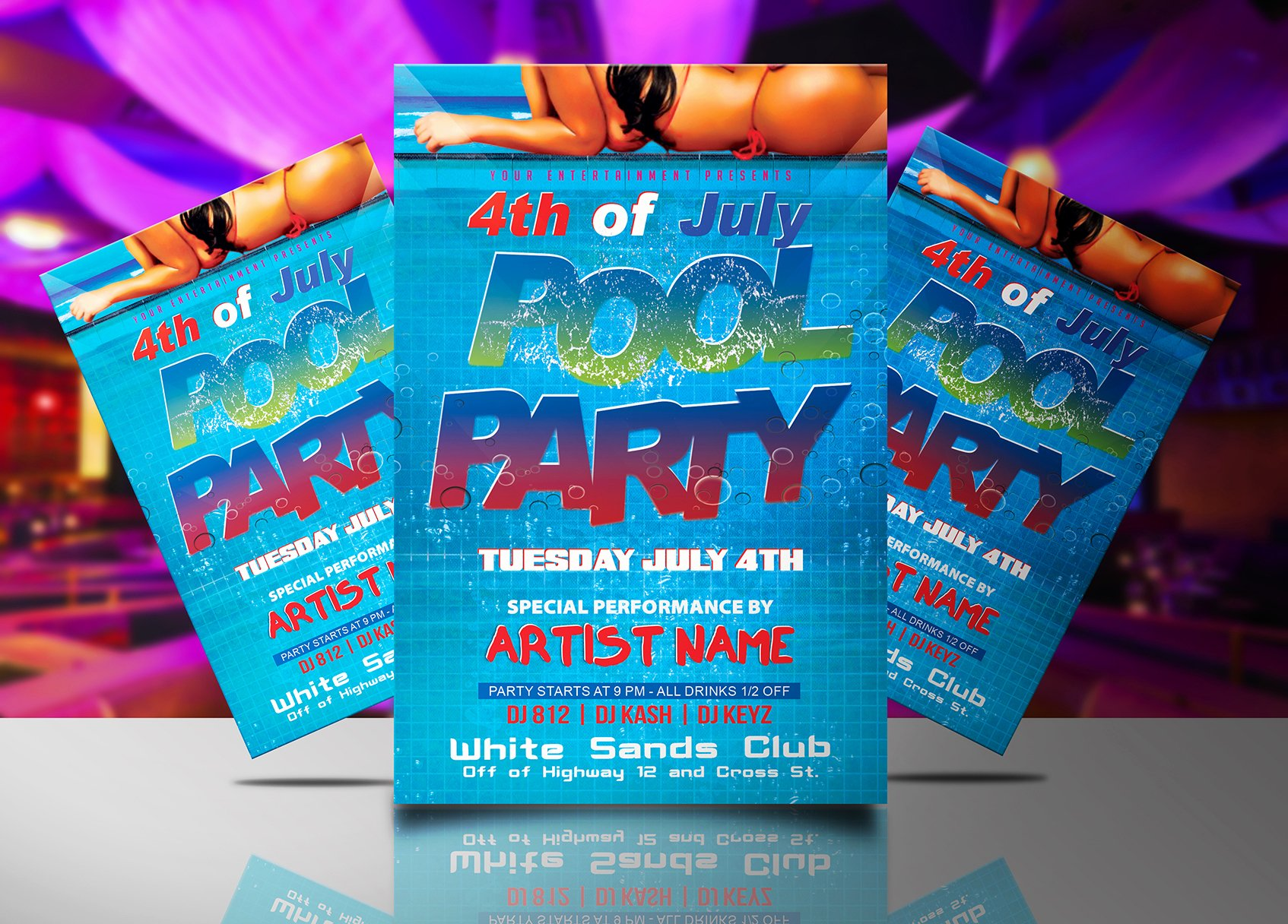 Pool Party Flyer Template Lovely 4th Of July Pool Party Flyer Template