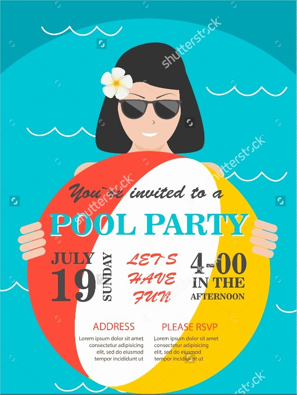Pool Party Flyer Templates Free Inspirational 23 Pool Party Flyers Free Psd Word Ai Eps format