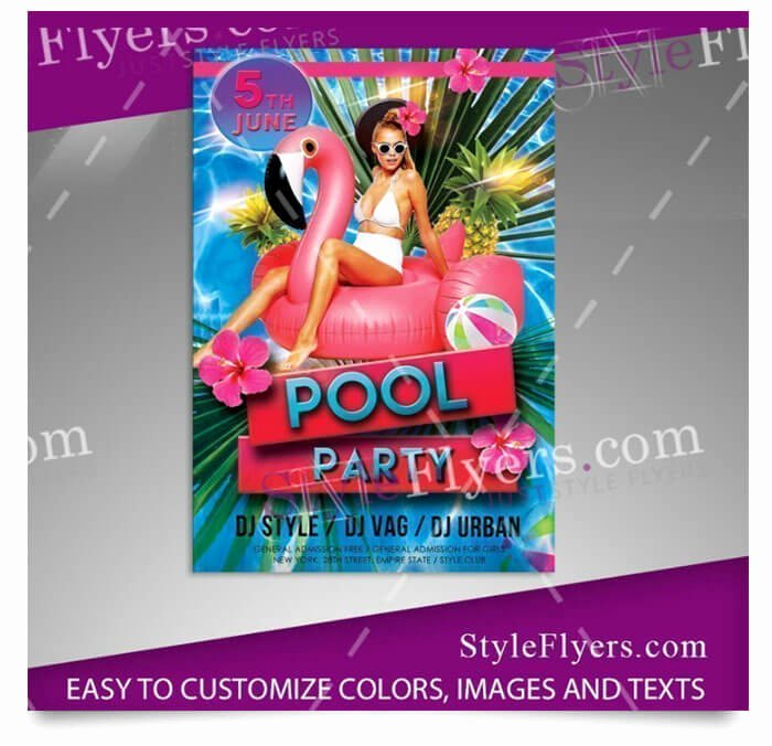 Pool Party Flyer Templates Free New 15 Free Pool Party Flyer Templates Tech Trainee