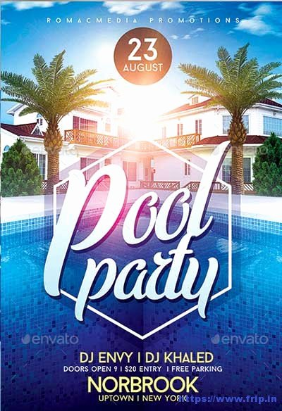 Pool Party Flyer Templates Free New 50 Best Summer Pool Party Flyer Print Templates 2019