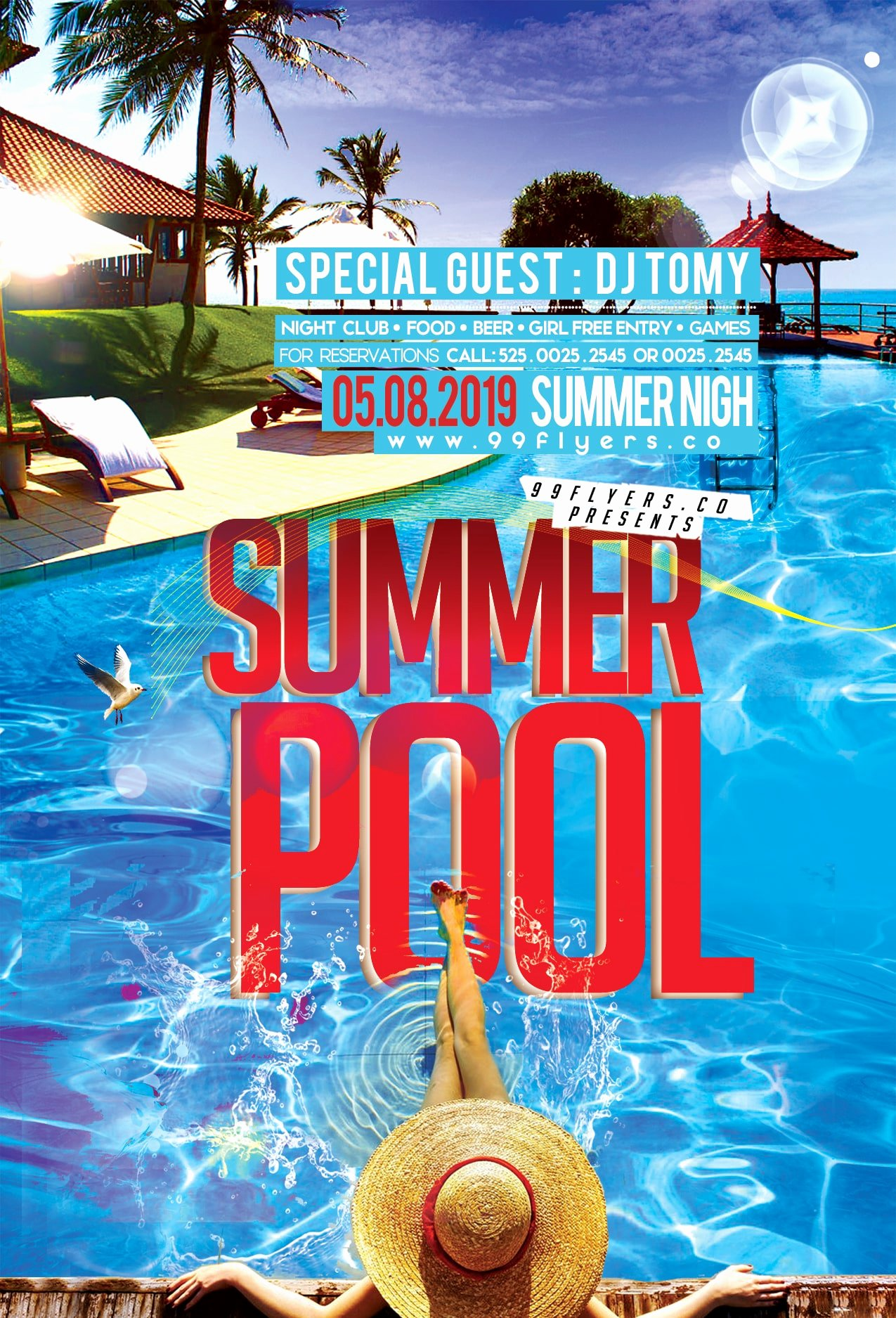 Pool Party Flyer Templates Free Unique Summer Pool Party Free Psd Flyer Template Free Psd Flyer