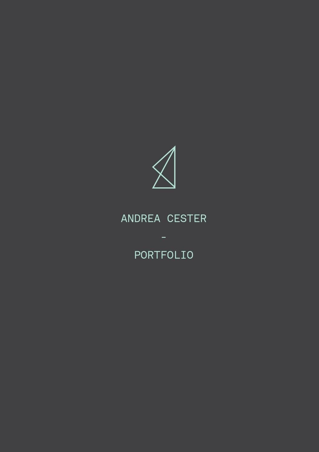 Portfolio Cover Page Template Awesome andrea Cester Portfolio Graphic