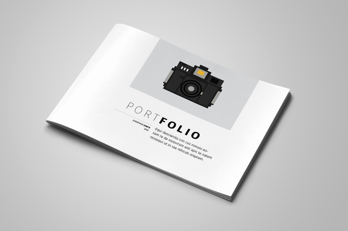 Portfolio Cover Page Template Beautiful Portfolio Template Brochure Templates On Creative Market