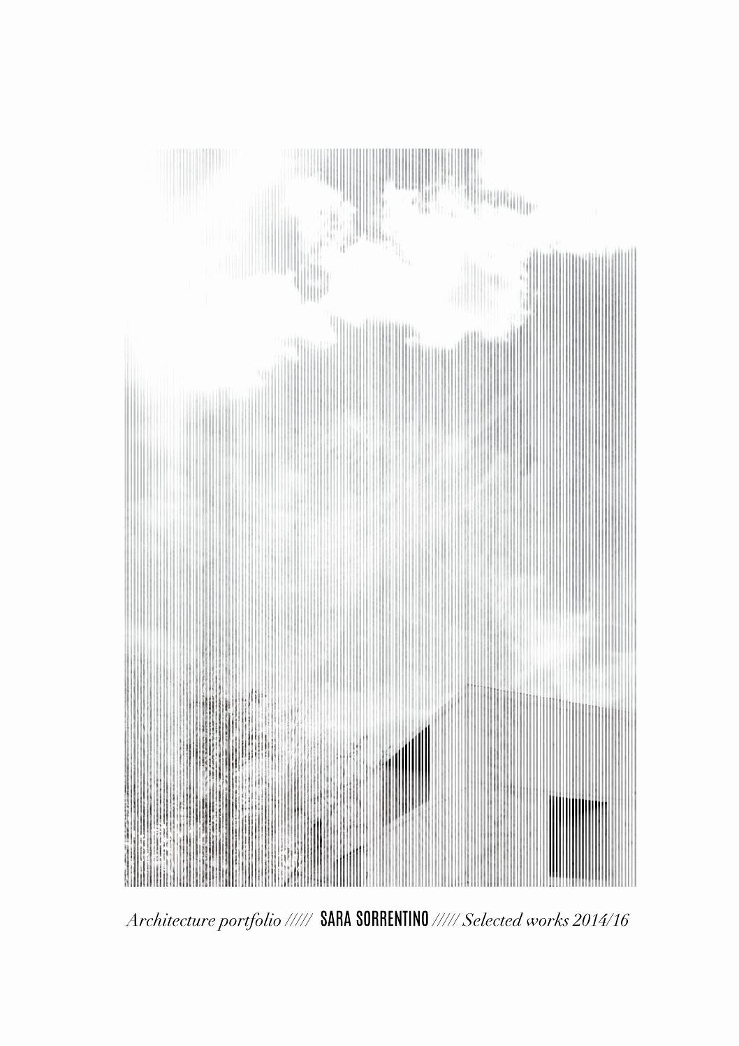 Portfolio Cover Page Template Inspirational Sara sorrentino Architecture Portfolio 2016