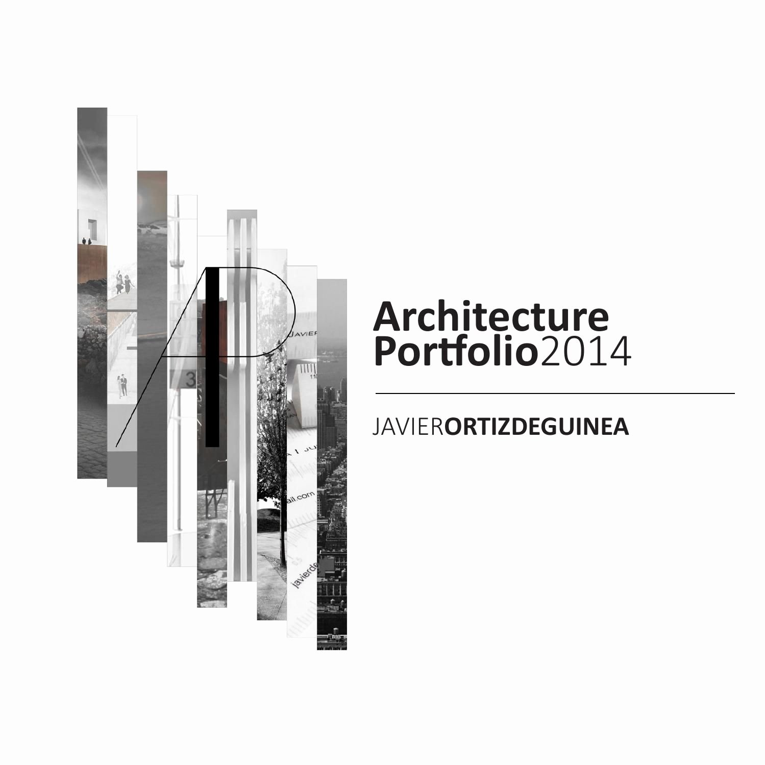 Portfolio Cover Page Template Luxury Architecture Portfolio