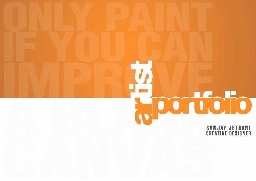 Portfolio Cover Page Templates Beautiful Portfolio Cover Page Template