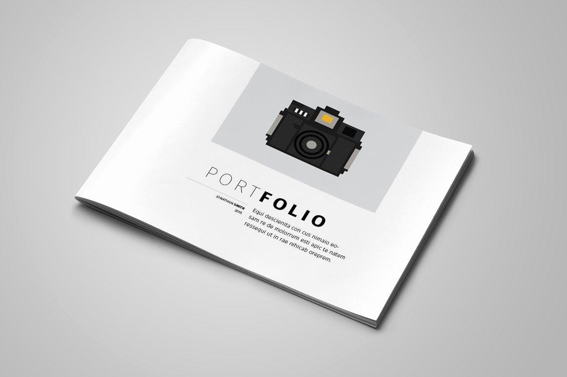 Portfolio Cover Page Templates Lovely Portfolio Template Brochure Templates On Creative Market