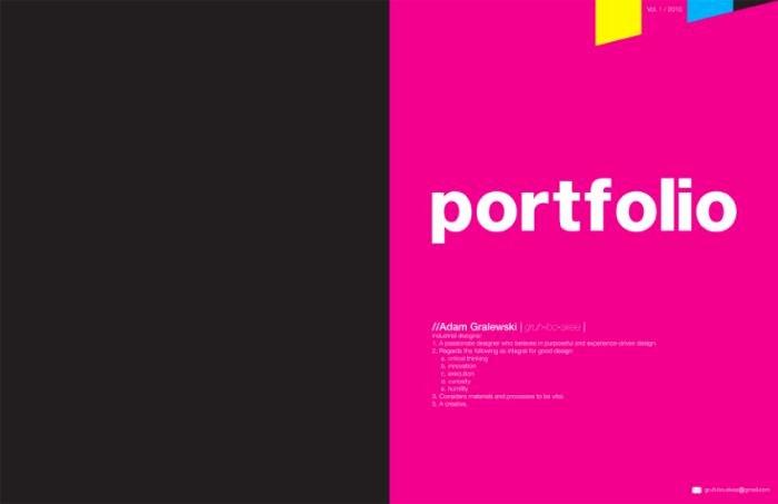 Portfolio Cover Pages Templates Awesome Portfolio by Adam Gralewski at Coroflot