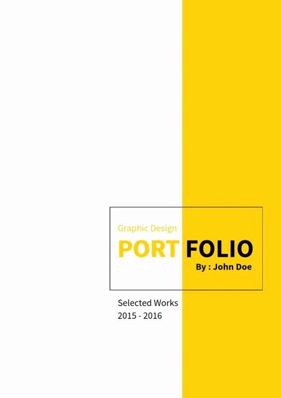 Portfolio Cover Pages Templates Beautiful Portfolio Cover Design
