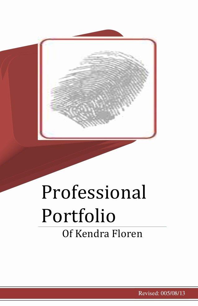 Portfolio Cover Pages Templates Fresh Professional Portfolio Cover Page