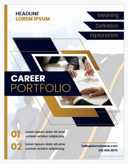Portfolio Cover Pages Templates Inspirational Career Portfolio Cover Page Templates Word