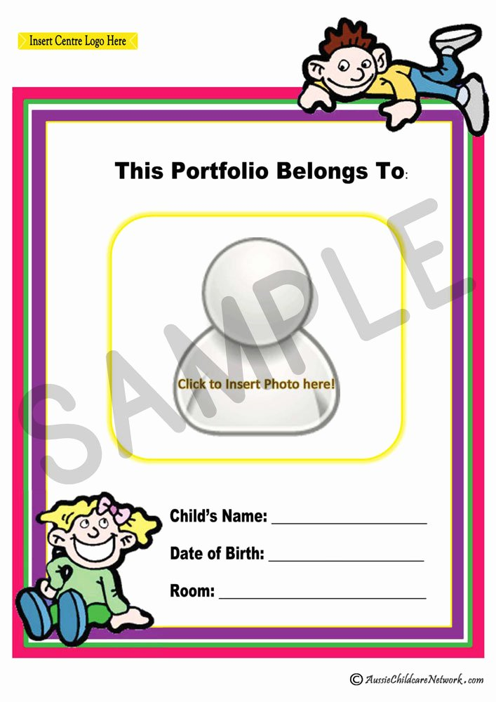 Portfolio Cover Pages Templates Lovely Portfolio Coverpage Aussie Childcare Network