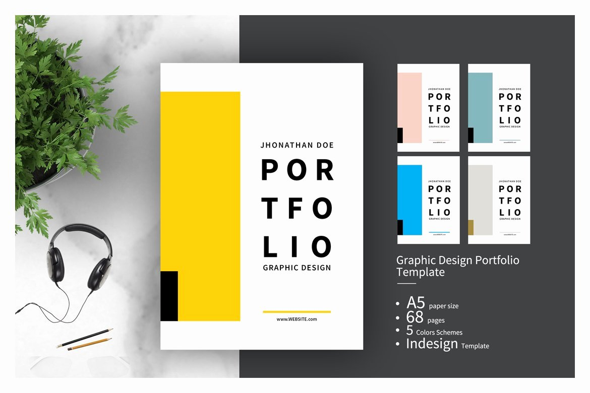 Portfolio Cover Pages Templates New Graphic Design Portfolio Template Brochure Templates