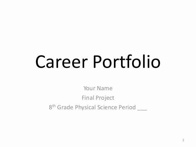 Portfolio Title Page Template Best Of Example Career Portfolio