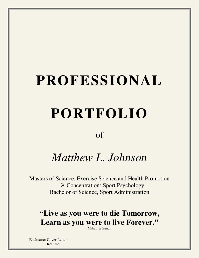 Portfolio Title Page Template Unique Coaching Portfolio
