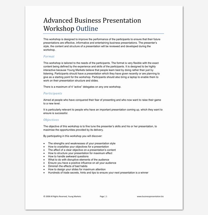 Powerpoint Presentation Outline Template Elegant Presentation Outline Template 19 formats for Ppt Word