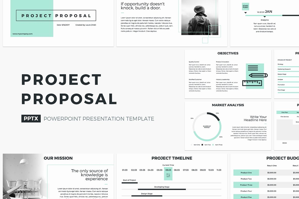 Powerpoint Presentation Outline Template Elegant Project Proposal Powerpoint Template Presentation
